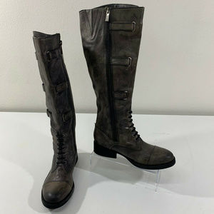 Vince Camuto Fenton Leather Tall Riding Boots Sz 5